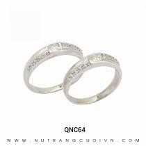 Mua Nhẫn Cưới Vàng Trắng QNC64 tại Anh Phương Jewelry