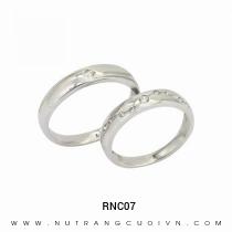 Mua Nhẫn Cưới Vàng Trắng RNC07 tại Anh Phương Jewelry