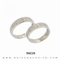Mua Nhẫn Cưới Vàng Trắng RNC39 tại Anh Phương Jewelry