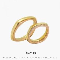 Mua Nhẫn Cưới Hai Màu ANC115 tại Anh Phương Jewelry