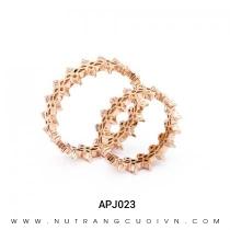 Mua Nhẫn Cưới Vàng Hồng APJ023 tại Anh Phương Jewelry