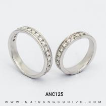 Nhẫn Cưới Vàng Trắng ANC125