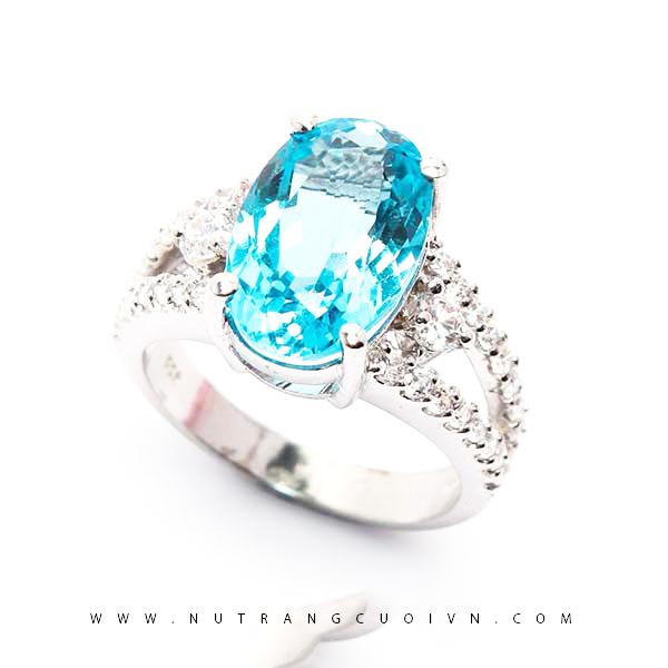 Nhẫn bạc mặt đá Topa NAT03