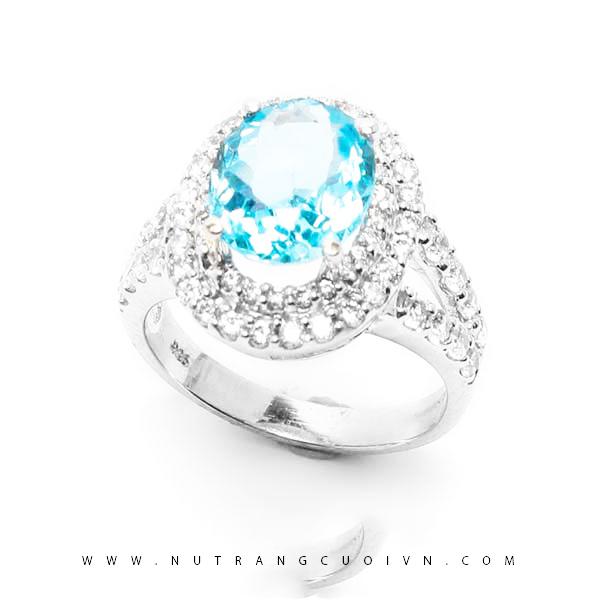 Nhẫn bạc mặt đá Topa NAT02
