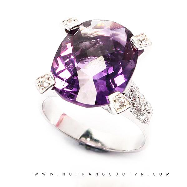 Nhẫn bạc đá thạch anh tím NTAT01