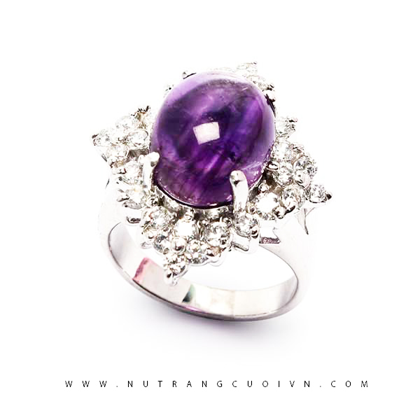 Nhẫn bạc đá thạch anh tím NTAT04