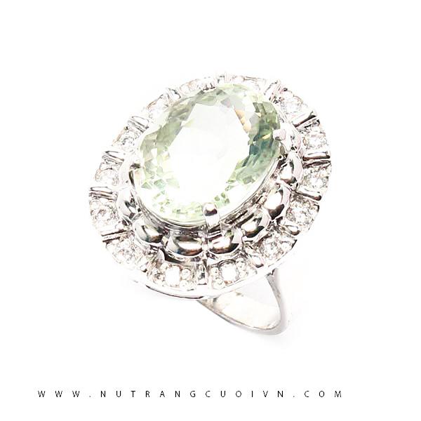 Nhẫn bạc thạch anh xanh NTAXL04
