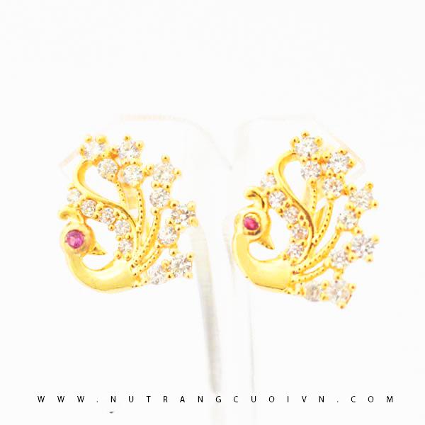 Bông tai vàng B463