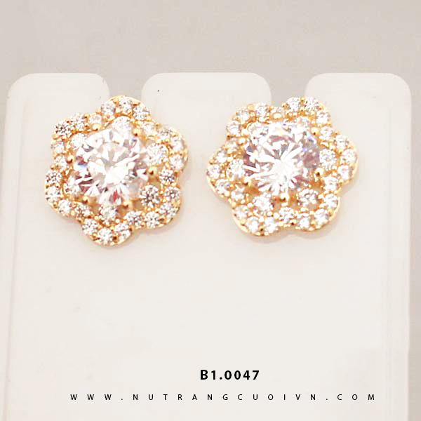 Bông tai vàng B1.0047