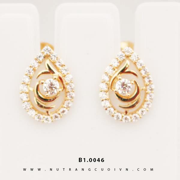 Bông tai vàng B1.0046