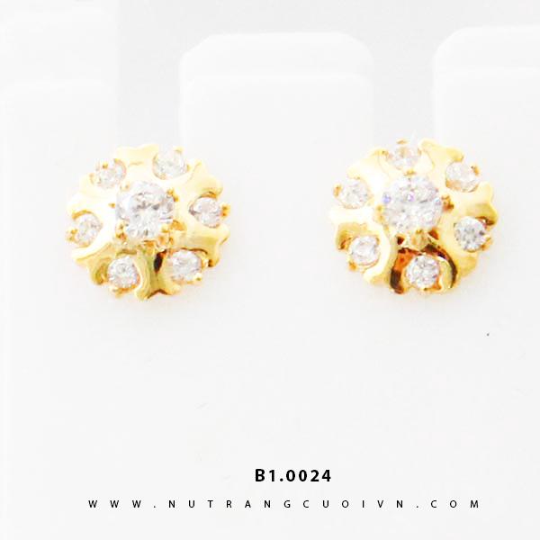 Bông tai vàng B1.0024