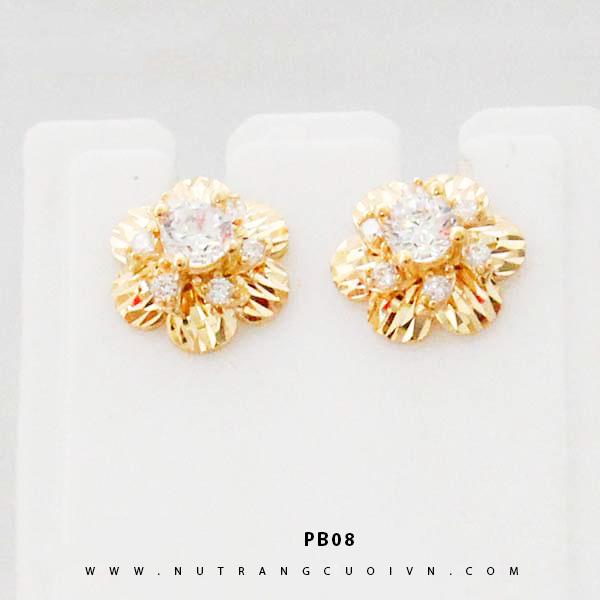 Bông tai vàng PB08