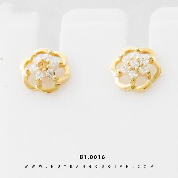 Bông tai vàng B1.0016