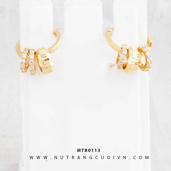 Bông tai vàng MTB0113