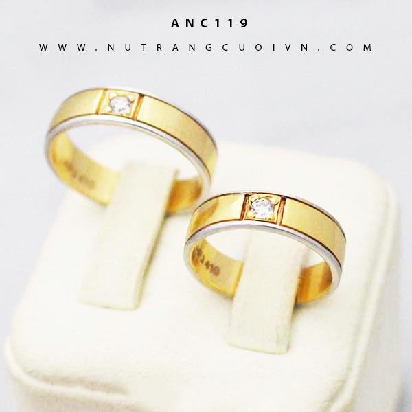 Nhẫn cưới 2 màu ANC119