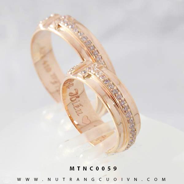 Nhẫn cưới vàng hồng MTNC0059