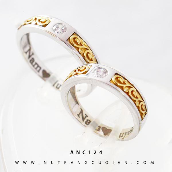 Nhẫn cưới hai màu ANC124