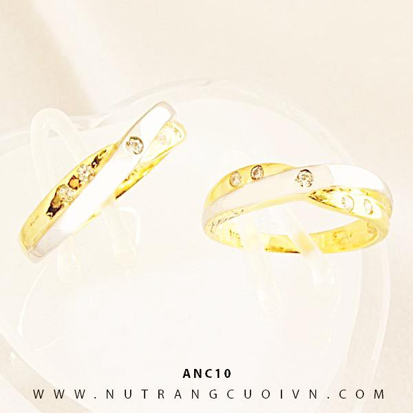 Nhẫn cưới 2 màu ANC10