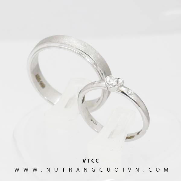 Nhẫn cưới vàng trắng VTCC