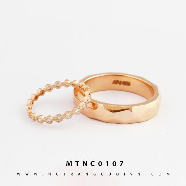 Nhẫn cưới vàng hồng MTNC0107