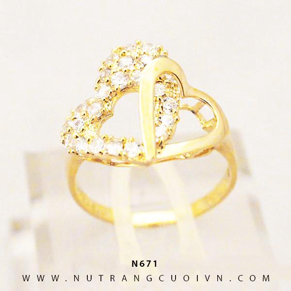 Nhẫn nữ đẹp N671