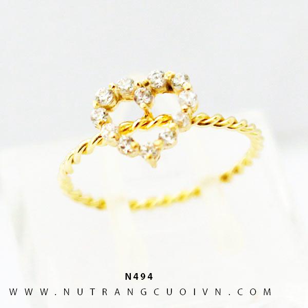 Nhẫn nữ vàng 18K N494