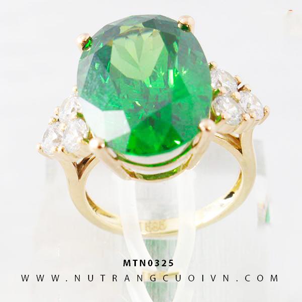 Nhẫn nữ đính đá xanh lá MTN0325
