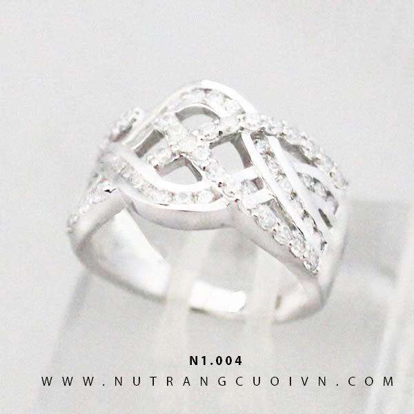Nhẫn nữ vàng trắng N1004