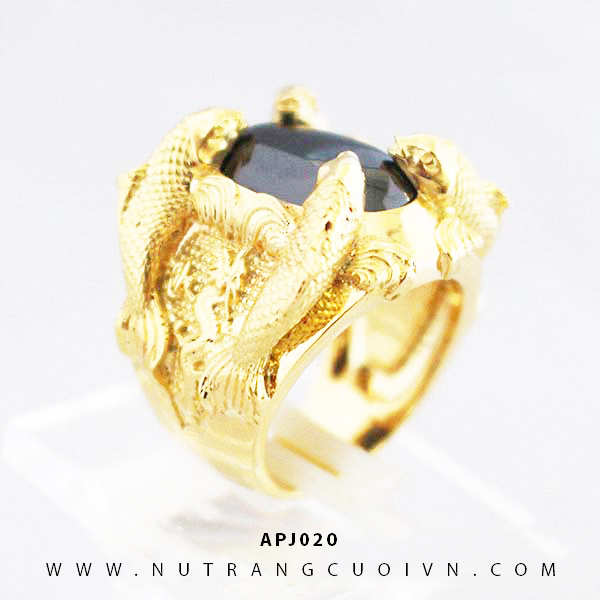 Nhẫn Cá Chép Hóa Rồng APJ020