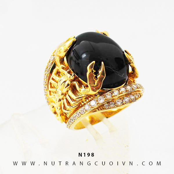 Nhẫn nam bò cạp vàng N198