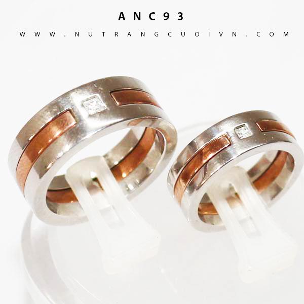 Nhẫn cưới 2 màu ANC93