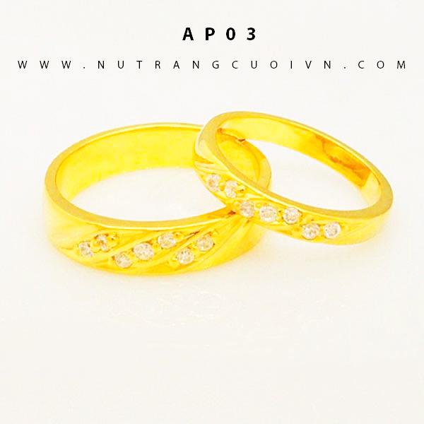 Nhẫn cưới vàng AP03