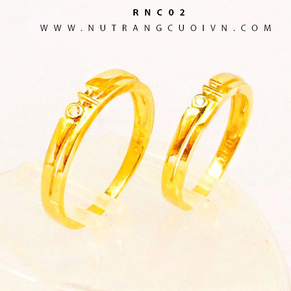 Nhẫn cưới vàng RNC02