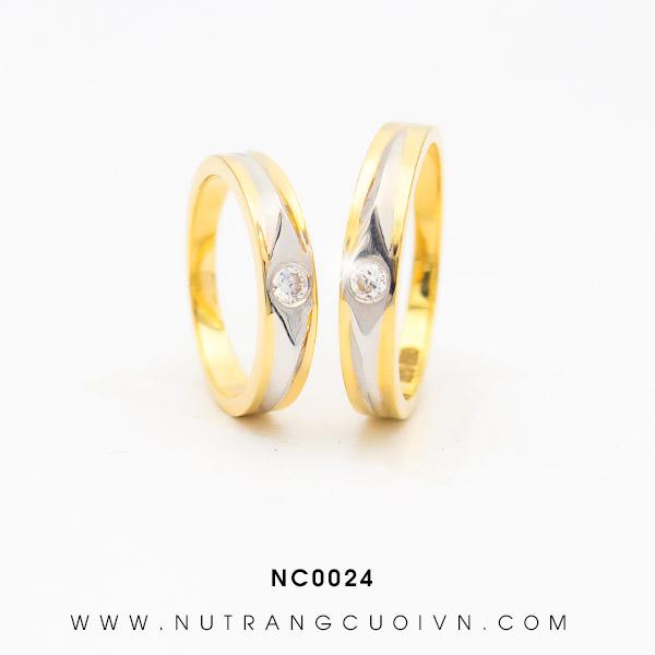 Nhẫn cưới 2 màu NC0024