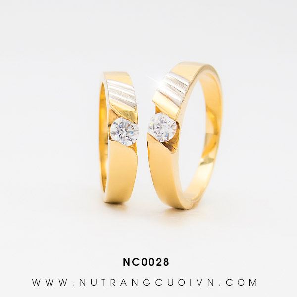 Nhẫn cưới 2 màu NC0028