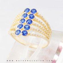 Nhẫn nữ đá xanh biển