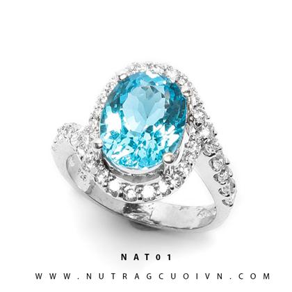 Nhẫn bạc mặt đá Topa NAT01