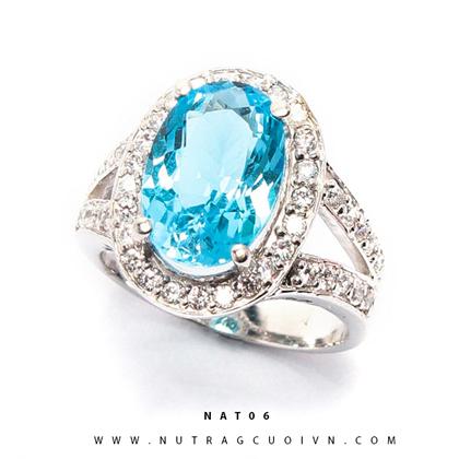 Nhẫn bạc mặt đá Topa NAT06