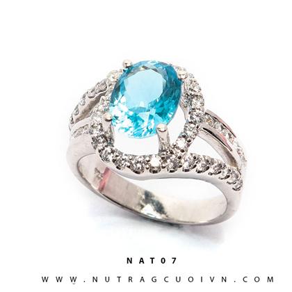 Nhẫn bạc mặt đá Topa NAT07