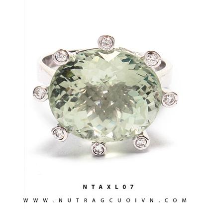 Nhẫn bạc thạch anh xanh NTAXL07