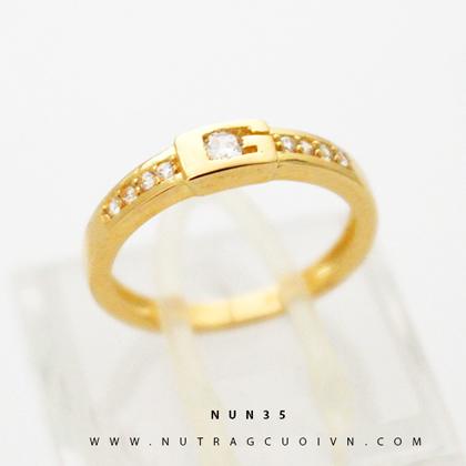 Nhẫn nữ đẹp NUN35 vàng