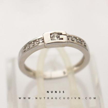 Nhẫn nữ đẹp NUN35 - trắng
