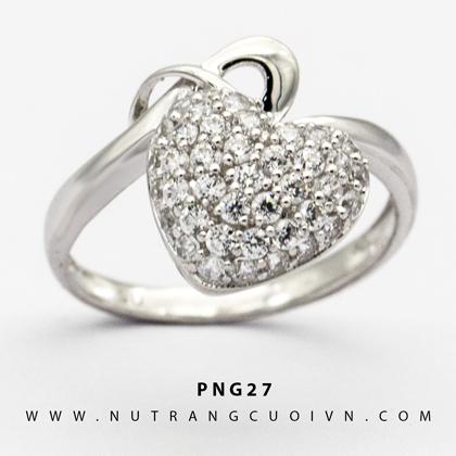 Nhẫn nữ vàng trắng PNG27