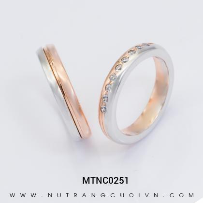 Nhẫn Cưới Hai Màu MTNC0251