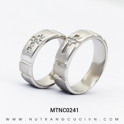 Nhẫn Cưới Vàng Trắng MTNC0241