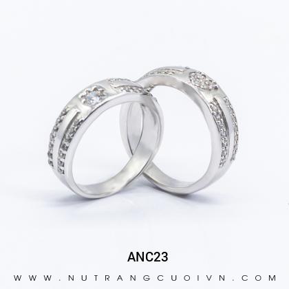 Nhẫn Cưới Vàng Trắng ANC23