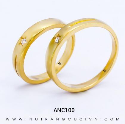 Nhẫn Cưới Vàng ANC100