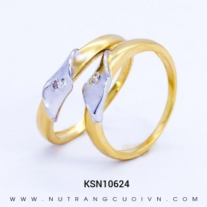 Nhẫn Cưới Vàng KSN10624