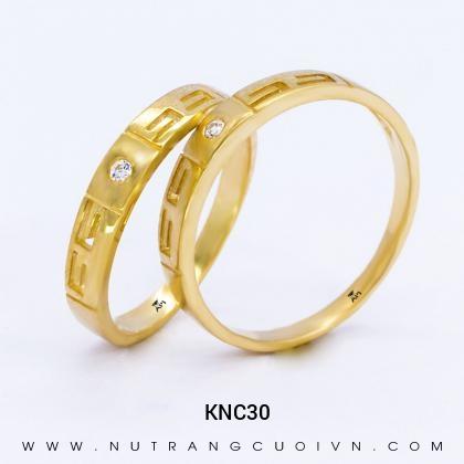 Nhẫn Cưới Vàng KNC30