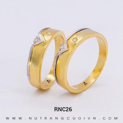 Nhẫn Cưới Vàng RNC26